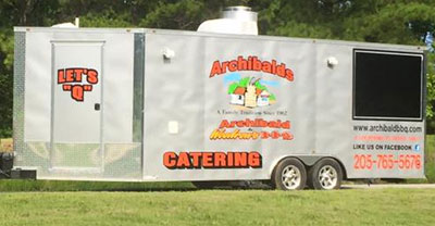 Archibalds BBQ Catering Trailer